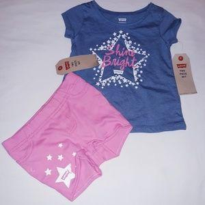Levi's Girls Infant 2pc Short Set